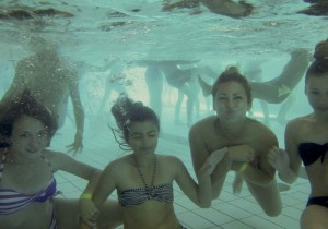 Sous l'eau ...